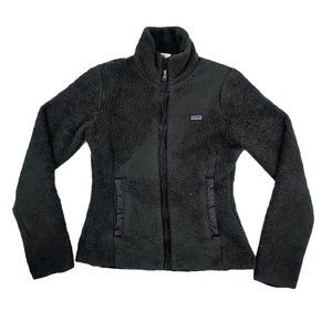 Patagonia Fleece Jacket Women's Small Black Logo